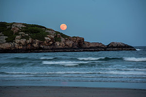 Beaches Good Harbor With Full Moon Jpg